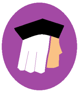 silhouette of three corner hat and wig