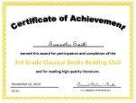 3rd grade certificate