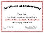 5th grade certificate