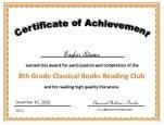 8th grade certificate