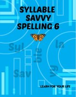 Syllable Savvy Spelling 6
