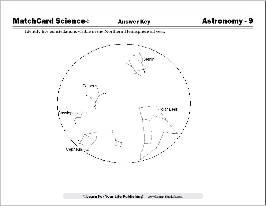 Constellation Worksheet