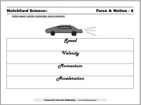 Speed and Velocity Worksheet