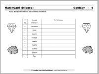 Geology Worksheet