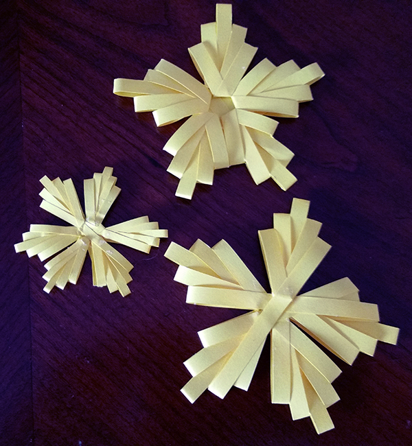 double comb quilling stars