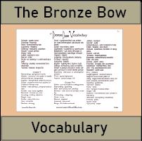 Bronze Bow Vocabulary