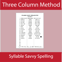 Three Column Spelling
