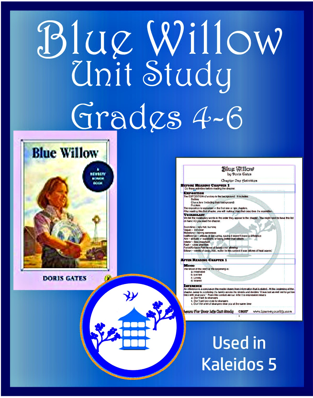 Blue Willow Unit Study Poster