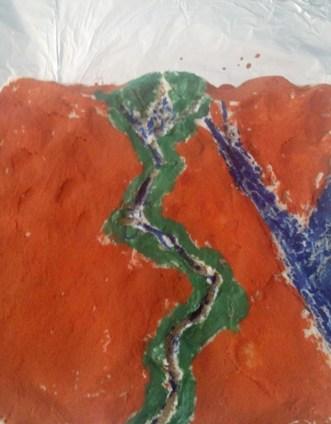 Salt Dough Map of Nile River Valley