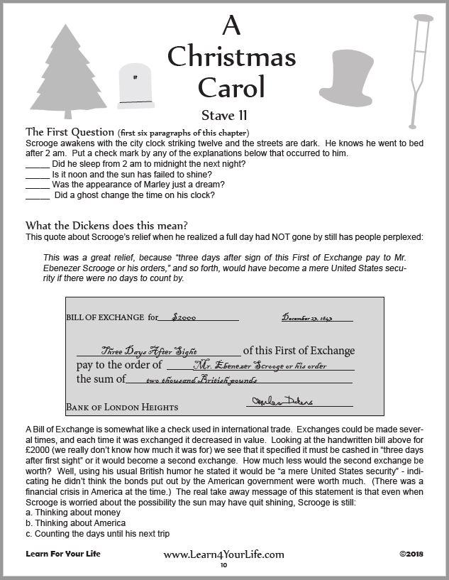 Christmas Carol Worksheet