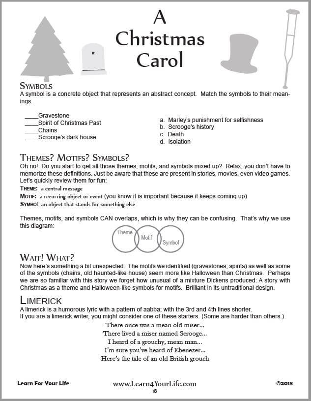 Christmas Carol Worksheet