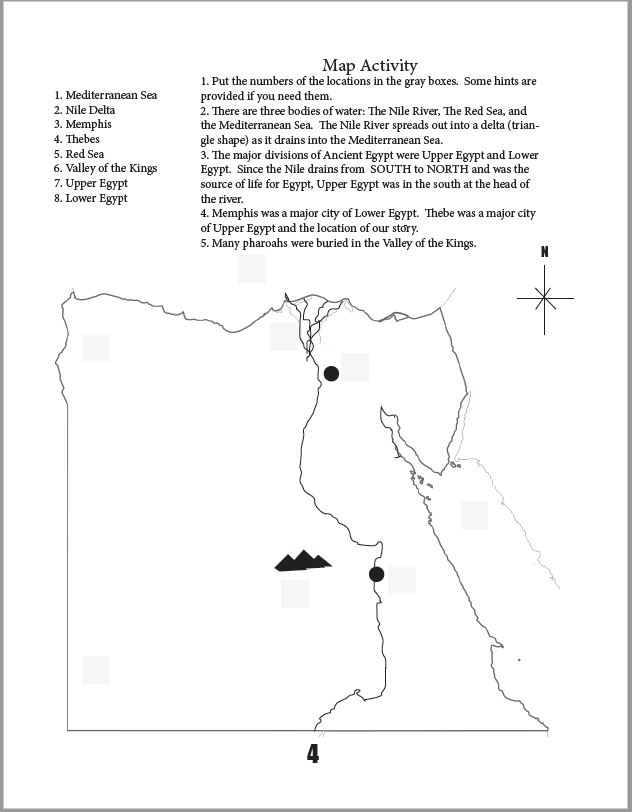 Golden Goblet Map Activity Page