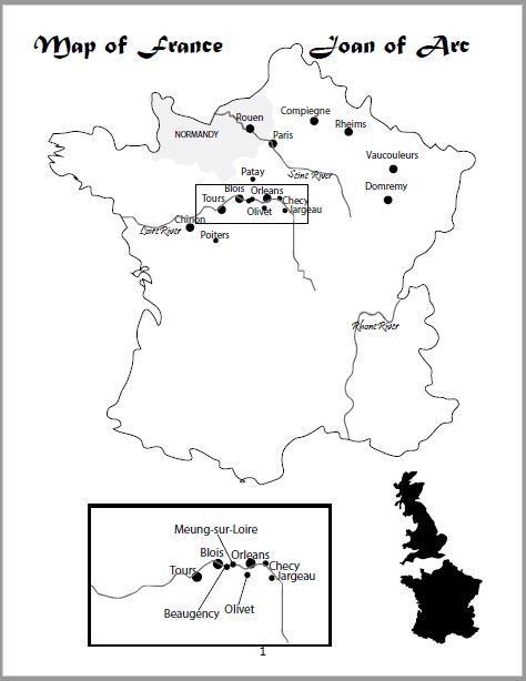 Joan of Arc Map