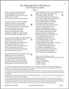 Paul Revere Poem