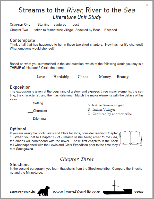 Streams to the River Worksheet