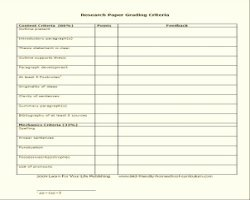 Research Paper Writing Rubric