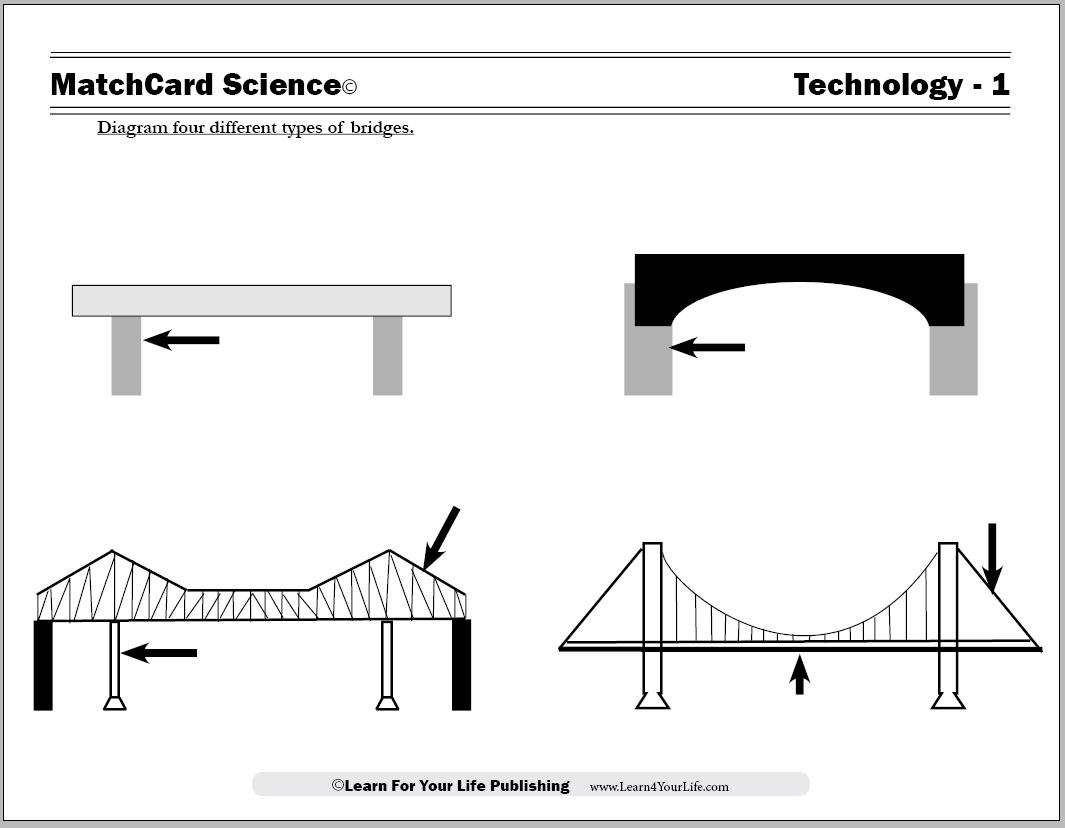 types of bridges worksheet