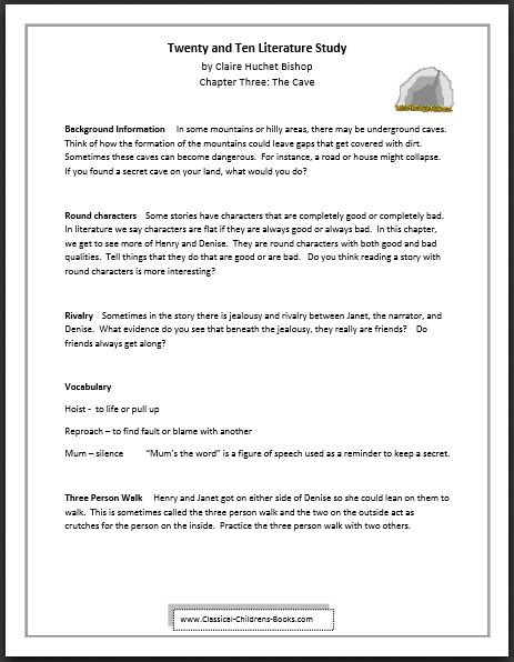 Twenty and Ten Chapter Three Lesson Guide