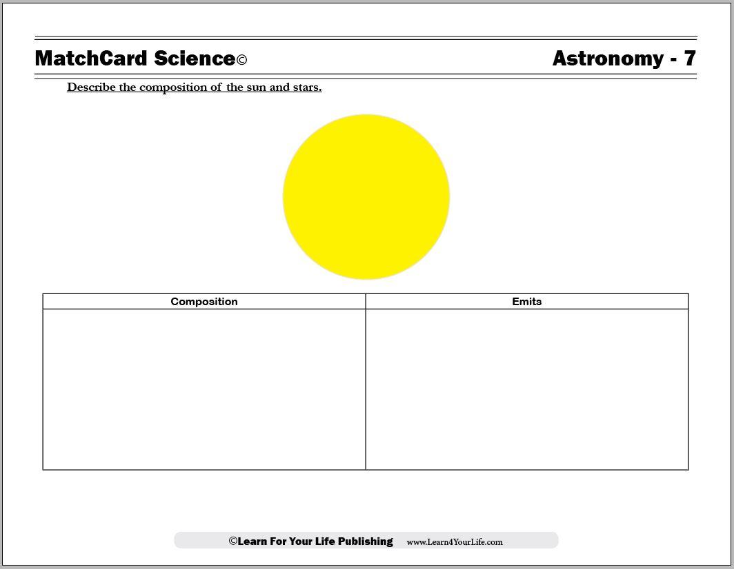 Sun's Composition Worksheet