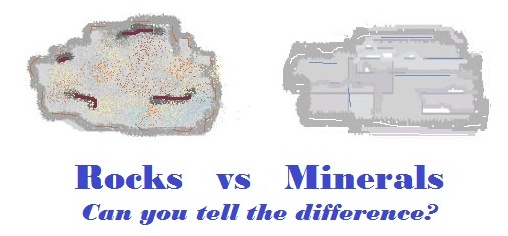 rocks and minerals diagram