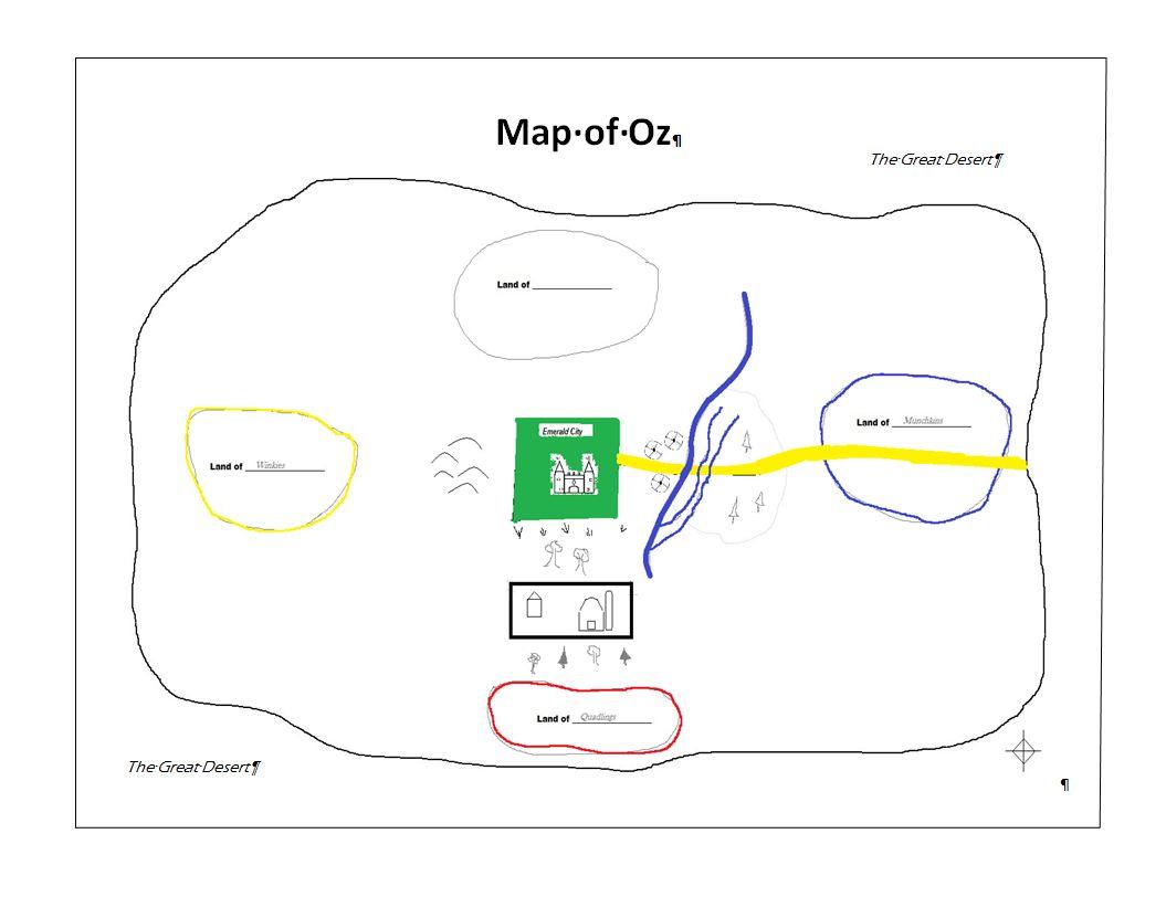 Teacher Key: Map of Oz