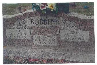 Grave of Alfonzo and Esper Bobbitt