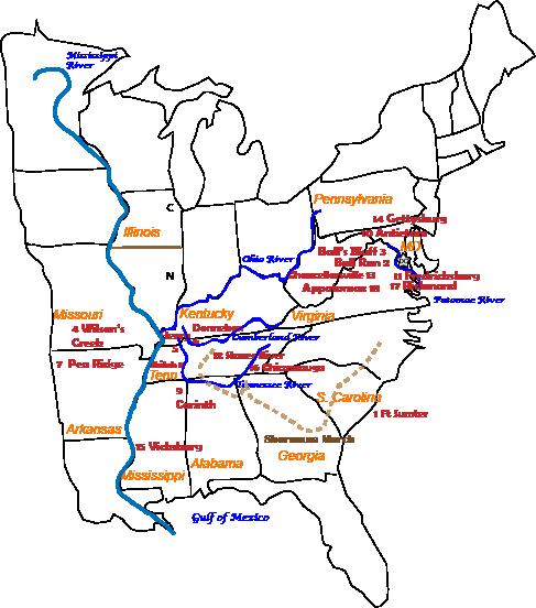 Across Five Aprils Map