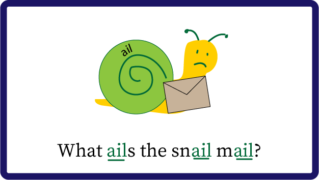 snail mail spelling trick