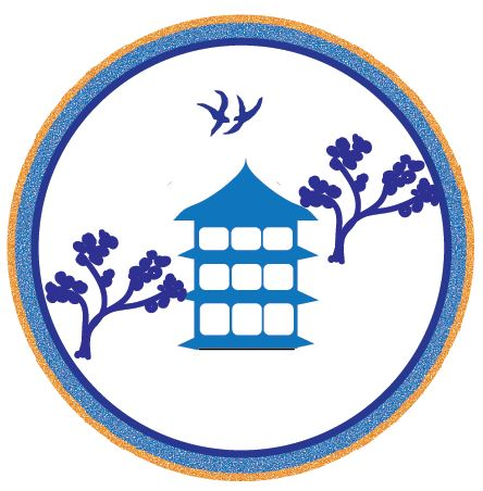 Blue Willow Plate with Pagoda