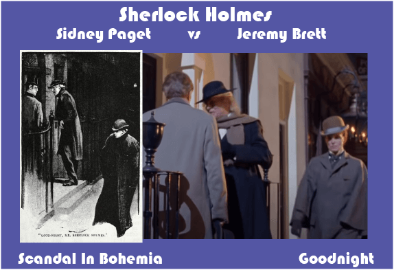Sidney Paget vs Jeremy Brett Scandal In Bohemia Goodnight Mr Sherlock Holmes