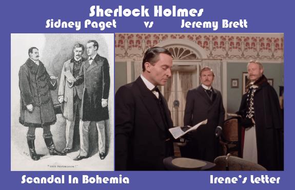 Sidney Paget vs Jeremy Brett Scandal In Bohemia Irene Adler's Letter