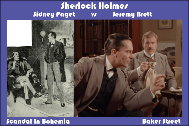 Sidney Paget vs Jeremy Brett Scandal In Bohemia Talking at Baker Street