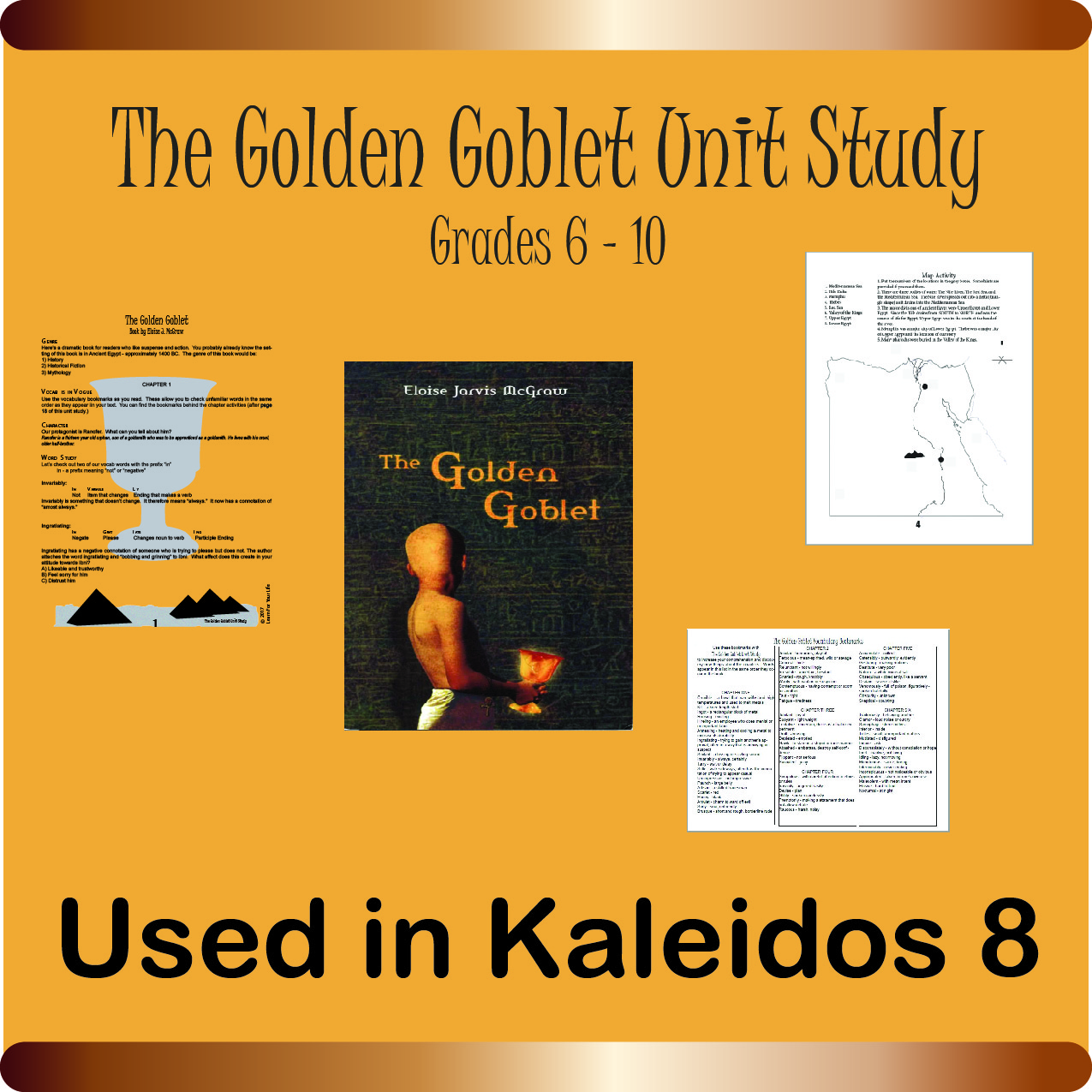 The Golden Goblet Unit Study Poster