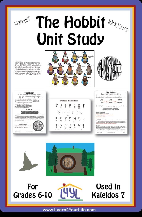 Hobbit Unit Study Poster