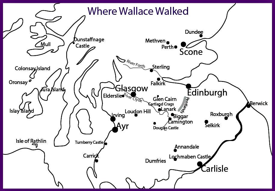 Map of Where Wallace Walked