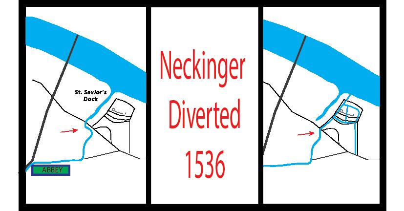Neckinger River Diverted