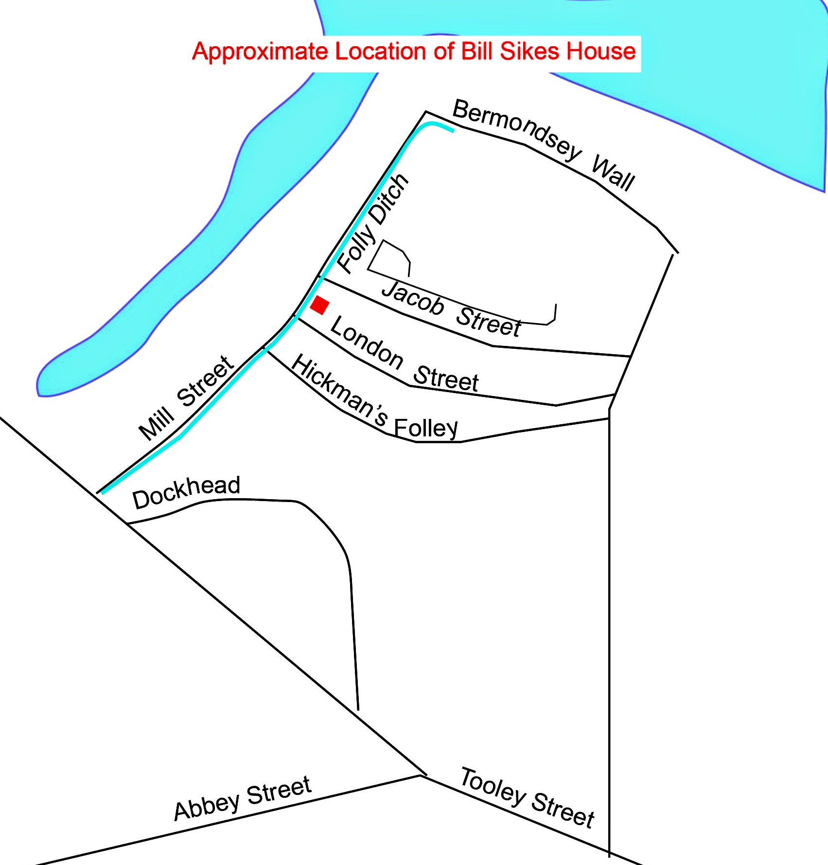 Map Location of Bill Sikes House