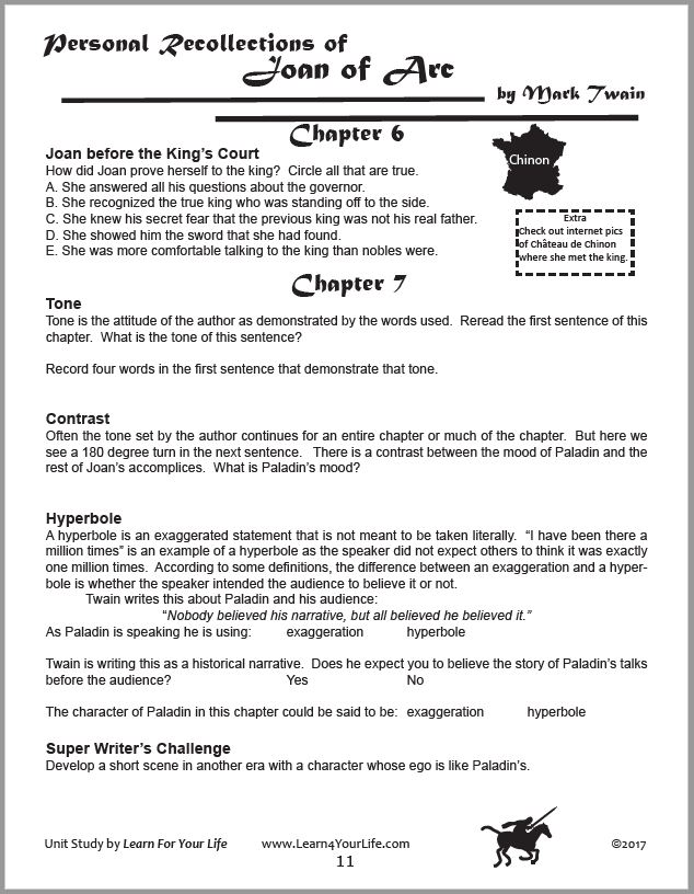 Joan or Arc Student Study Guide Page