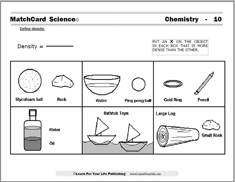 Denisty Worksheet