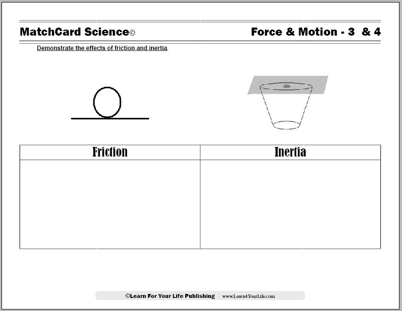 Friction and Inertia Worksheet