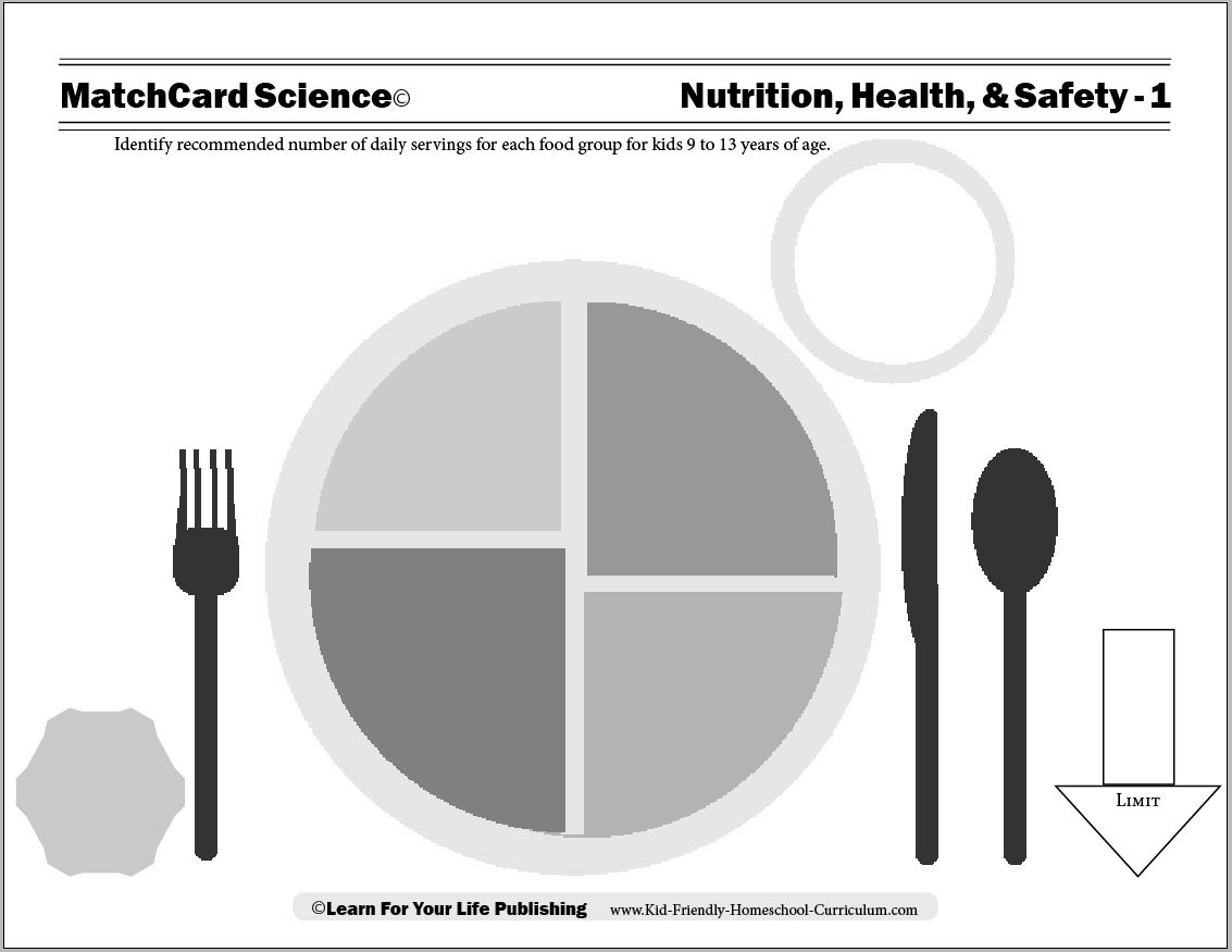 Worksheets Health And Nutrition Worksheets nutrition for kids worksheet