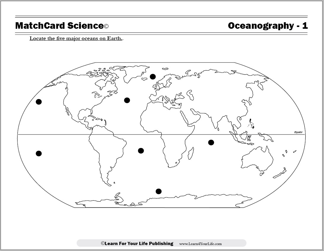 Major Oceans Worksheet