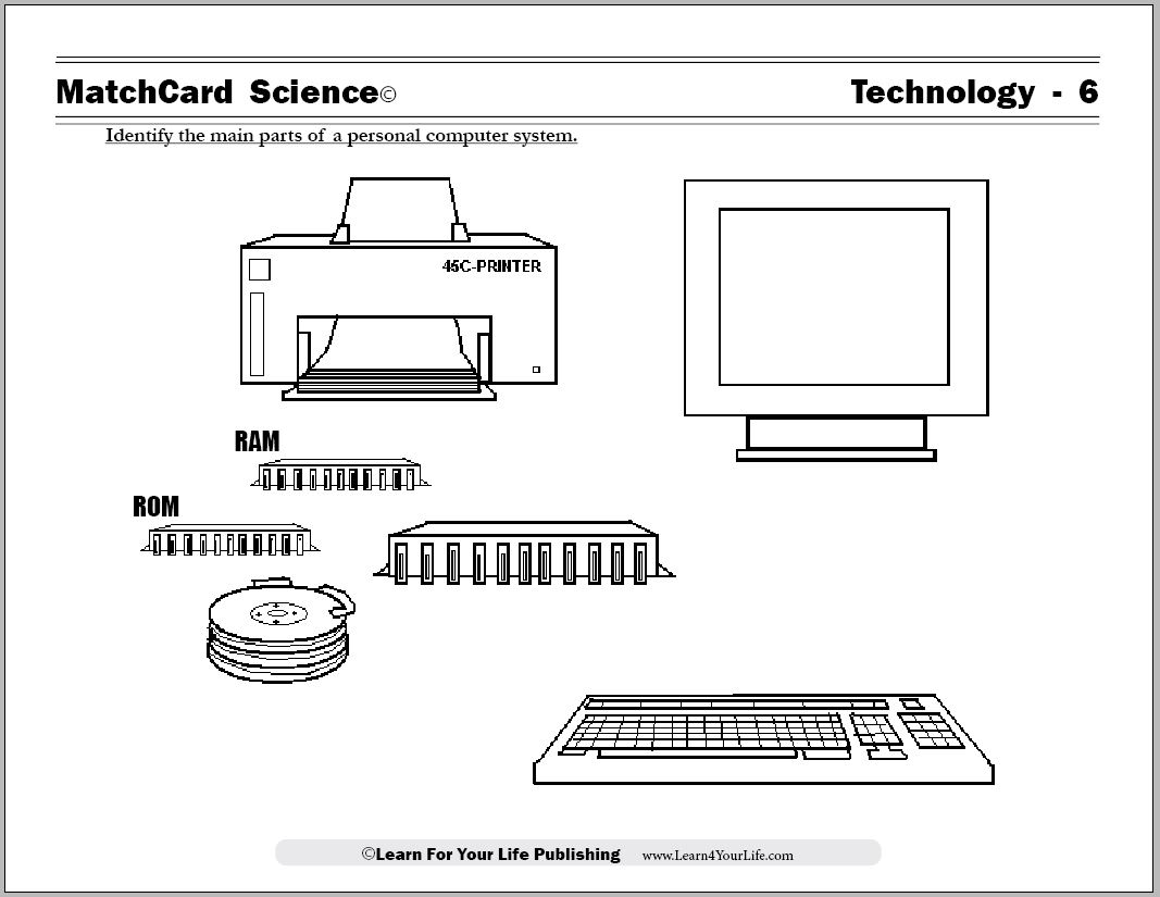 Worksheets Computer Technology Worksheets computer worksheet electronics homeschool curriculum download arrow