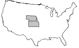 Kansas Nebraska map