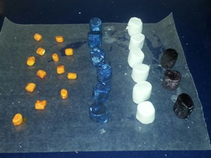 carbon protein and fat molecule marshmallows