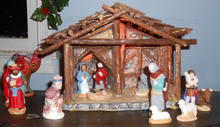 Hand Painted Nativity Set