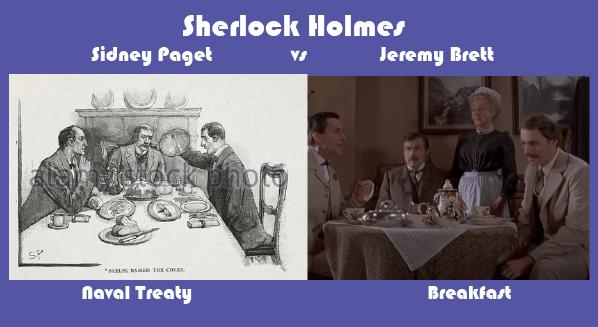 Sherlock Holmes, Paget, and Brett Breakfast Scene