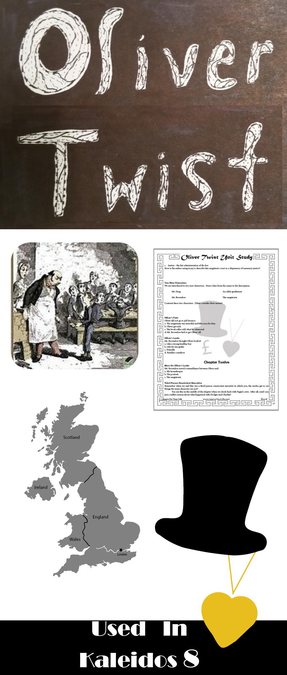Oliver Twist Unit Study Poster