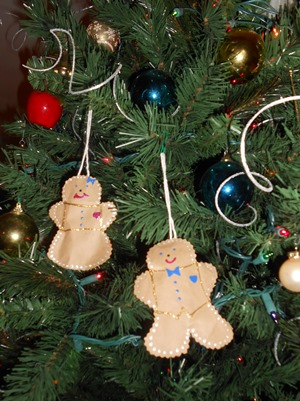 Ginger Bread Ornaments on Tree