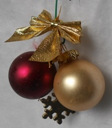 maroon miniature ornaments